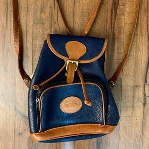 Leather vintage mini backpack